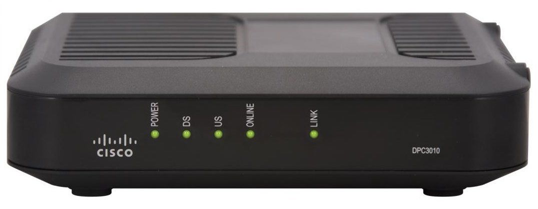 Cisco Dpc3010 8x4 Channel Cable Modem And Suddenlink Od